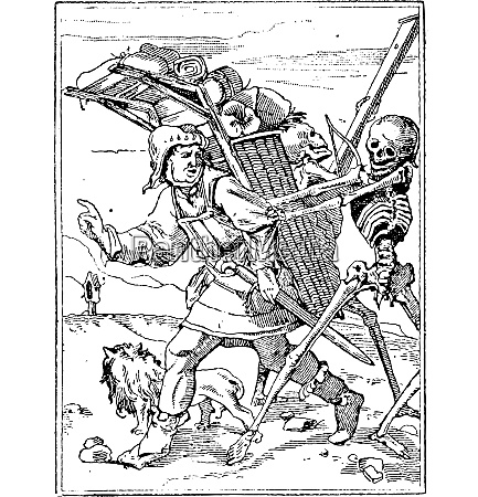 dance of death vintage engraving