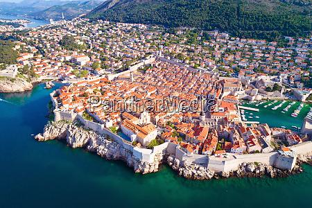town of dubrovnik city walls unesco
