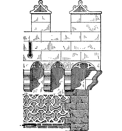 machicolation on a spanish tower in
