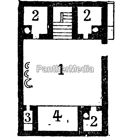 floor plan of an egyptian house