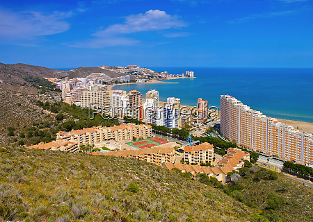 beaches around cullera province valencia in