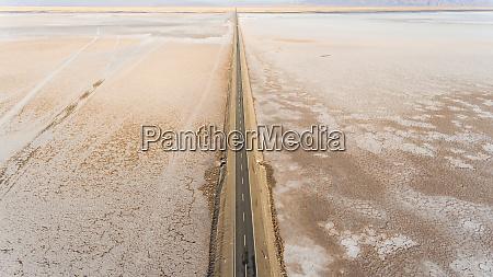 aerial view of road crossing salinas