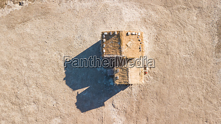aerial view of a little house