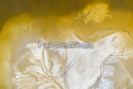 abstract aerial view above salt production