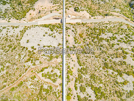 aerial view of hydro electric pipeline