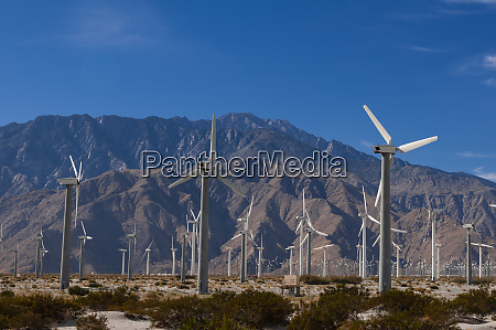 wind farm palm springs california usa