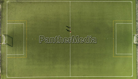 aerial view of a two players