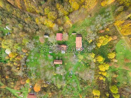 aerial view of blatusa eco village
