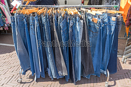 hanging jeans pants