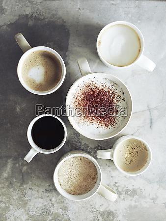 black coffee hot chocolate coffee and