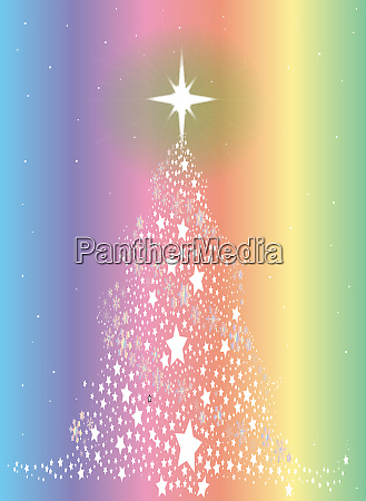 star spangled rainbow christmas tree