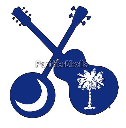 south carolina state flag banjo and