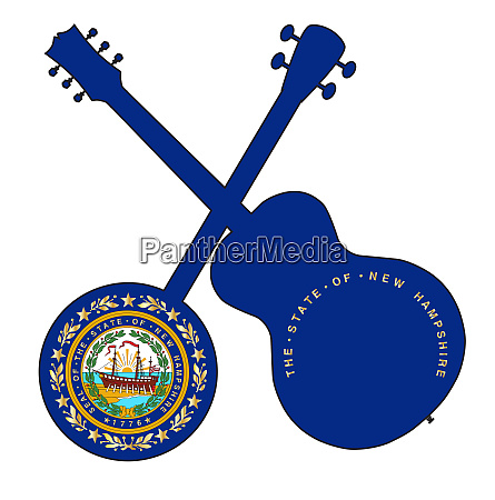 new hampshire state flag banjo and