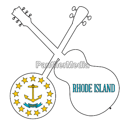 rhode island state flag banjo and