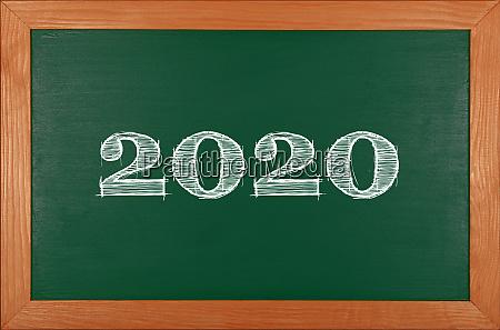 green school chalkboard with 2020 chack