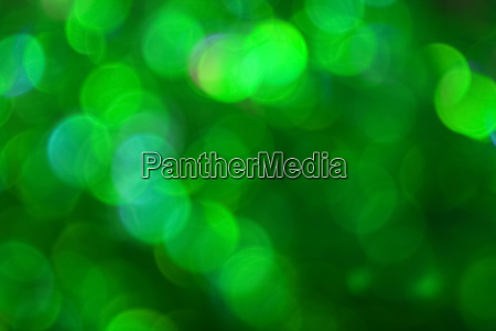 green bokeh lights abstract background