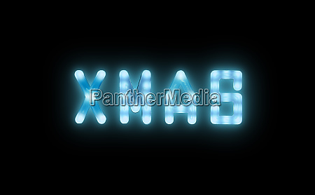 blue, neon, glowing, led, xmas, sign - 27628949