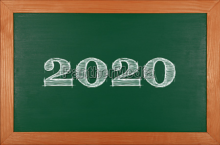 green, school, chalkboard, with, 2020, chack - 27628943