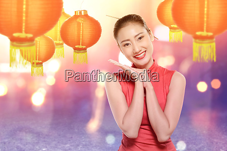 asian chinese woman in a cheongsam