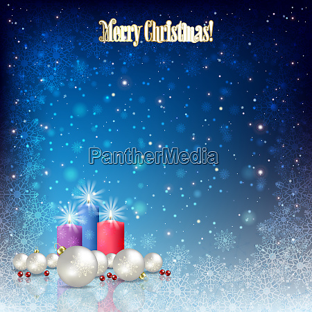 abstract background with christmas decorations and