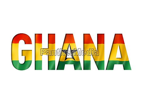 ghanaian flag text font