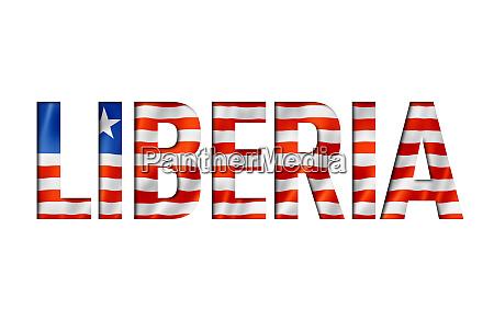 liberian flag text font