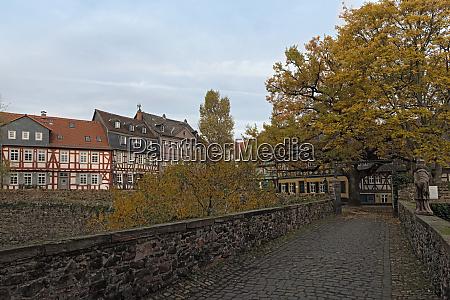 historic schlossplatz in frankfurt hoechst in