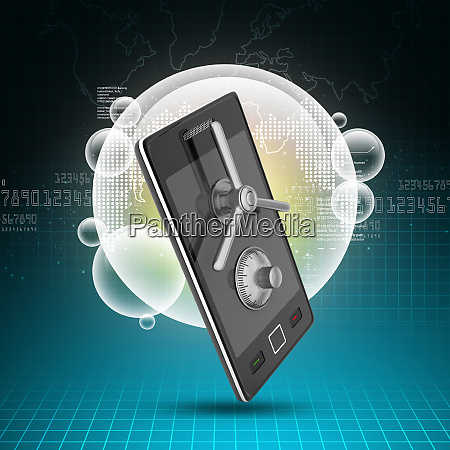 mobile security and protection concept