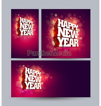 vector 3d happy new year design