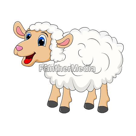 sheep cartoon mascot character standing for