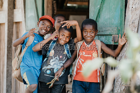 happy and smiling young malagasy boys