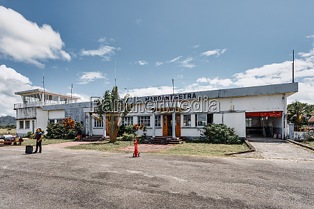 domestic airport in maroantsetra city madagascar