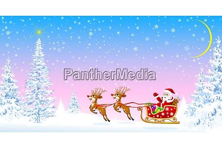 santa claus welcomes christmas