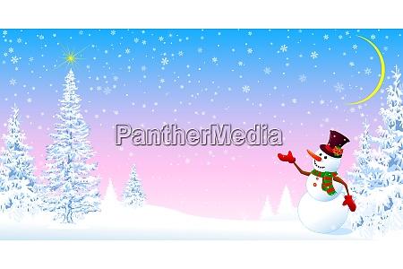 snowman welcomes christmas