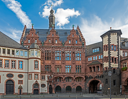 historic old town hall of frankfurt