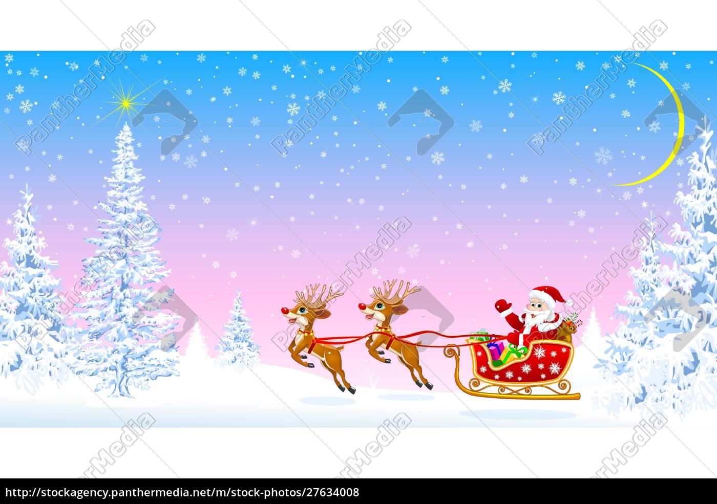 santa, claus, welcomes, christmas - 27634008