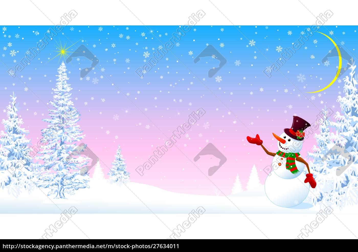 snowman, welcomes, christmas - 27634011