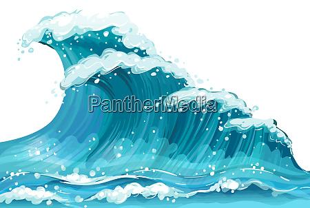 waves sea nature blue motion foam