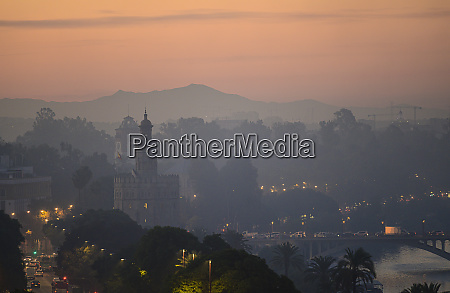 cityscape with torre del oro at