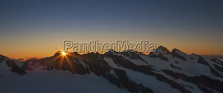 bernese oberland at sunrise in canton