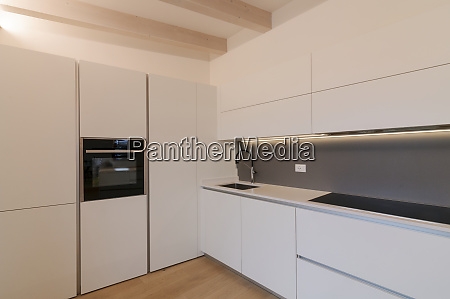 modern white kitchen interior