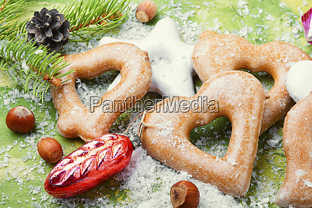 christmas gingerbread and decoration