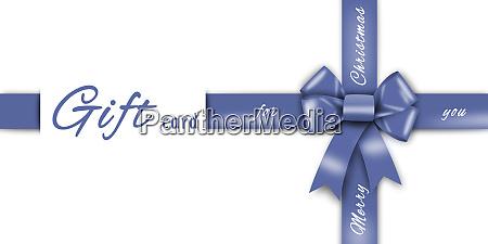 gift card blue ribbon blue loop
