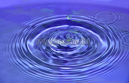 abstract wave water drop on purple
