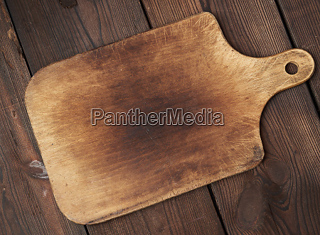 old empty wooden rectangular cutting board