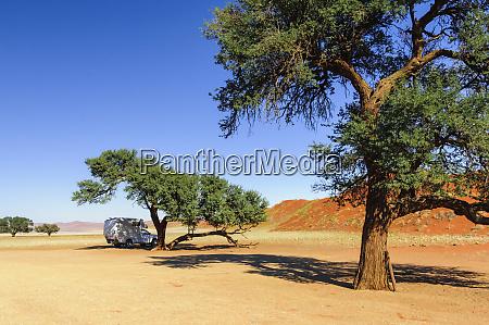 camper in the namib desert