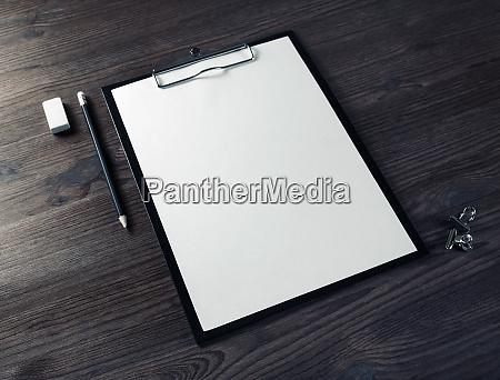 blank branding stationery