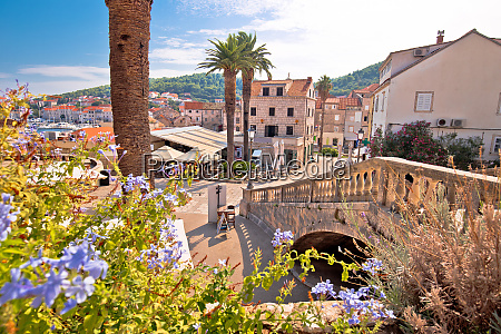 korcula town gate and historic architecture