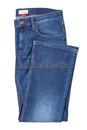 men jeans isolated folded trendy stylish