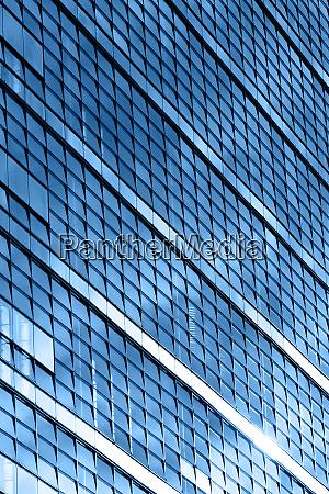 modern business office building blue glass